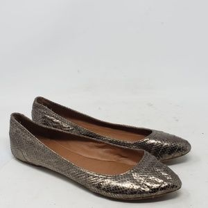 Lucky Brand Peppy Women's Metallic Leather Flats